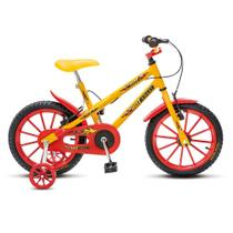 Bicicleta Infantil Menino Masculina Aro 16 Colli Hot - Amarela - Colli Bike