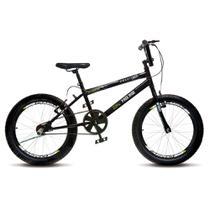 Bicicleta Infantil Menino Masculina Aro 20 Colli Cross Extreme - Preto Fosco - Colli Bike