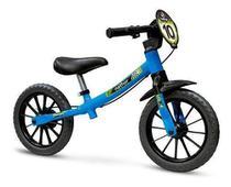 Bicicleta Infantil Menino Sem Pedal Azul Aro12 Balance Bike - Nathor