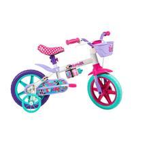 Bicicleta Infantil Minnie Aro 12 - Quad 9'' - Branco - Caloi