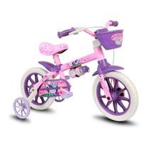 Bicicleta Infantil Nathor Aro 12 Feminina Selim -
