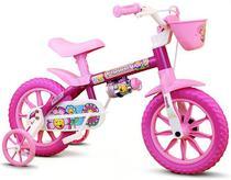 Bicicleta Infantil Nathor Aro 12 Menina De 3 A 5 Anos - Rosa -