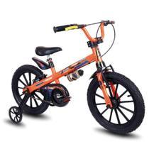 Bicicleta Infantil Nathor - Aro 16 Com Rodinhas Menino Extreme -
