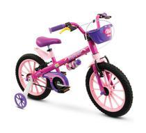 Bicicleta Infantil Nathor Aro 16 Menina Top Girls 5 A 8 Anos -