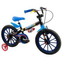 Bicicleta Infantil Nathor Aro 16 Menino Tech Boys 5 A 8 Anos -