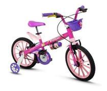 Bicicleta Infantil Nathor Aro16 Menina Top Girls 5 A 8 Anos -