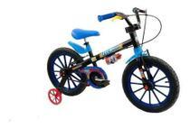 Bicicleta Infantil Nathor Aro16 Menino Tech Boys 5 A 8 Anos -