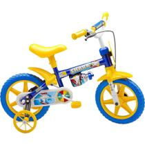 Bicicleta Infantil Nathor Masculina Shark Aro 12 Azul/Amarela -
