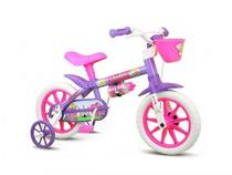 Bicicleta Infantil Nathor Violet Aro 12 Menina Rosa Lilás -
