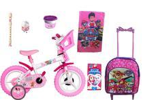 Bicicleta Infantil Patrulha Canina Feminina Mochila  Kit 7 itens - Expo magical