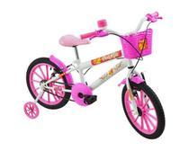 Bicicleta Infantil Polimet Feminina Aro 16 PoliKids Branca -