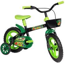 Bicicleta Infantil Preta Verde Aro 12 Dinossauros Styll Baby -