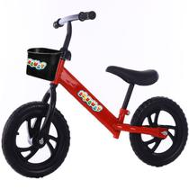 Bicicleta Infantil S/ Pedal Equilíbrio Balance Bike Vermelha - IMPORTWAY KIDS