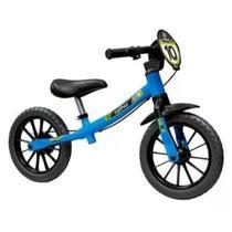 Bicicleta Infantil Sem Pedal Balance Bike Azul Masculina Nathor -