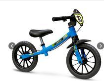 Bicicleta Infantil Sem Pedal Equilíbrio Balance Azul Nathor -