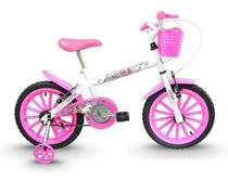 Bicicleta Infantil Track Bikes Pinky Feminina Rodinhas Aro 16 -