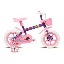Bicicleta Infantil Verden aro 12 Paty Lilás e Rosa -