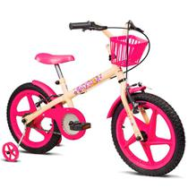 Bicicleta Infantil Verden Bikes Fofys Aro 16 Bege e Fúcsia - 10434 -