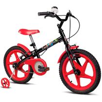 Bicicleta Infantil Verden Bikes Rock Aro 16 Preto e Vermelho - 10362 -