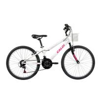 Bicicleta Infanto Juvenil Caloi Ceci Aro 24 - 21 Velocidades - Branco -