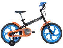 Bicicleta Infatil Hot Wheels Aro 16 Caloi - Colorido com Rodinhas