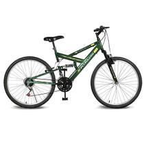 Bicicleta Kyklos Aro 26 Caballu 7.2 Alumínio Natural 21V Verde Bandeira -