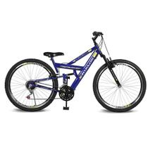 Bicicleta Kyklos Aro 26 caballu 7.4 Rebaixada 21V A-36 Azul -