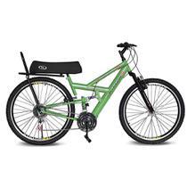 Bicicleta Kyklos Aro 26 Caballu 7.7 Rebaixada 21 M A-36 com Selim Banana Verde -