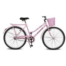 Bicicleta Kyklos Aro 26 Circular 5.5 Freio Contrapedal com Cesta Rosa -