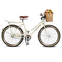 Bicicleta Kyklos Aro 26 Jolie 2.1 com Bagageiro Bege -