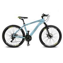 Bicicleta Kyklos Aro 26 Kivnon 8.5 Freio a Disco 21V Azul/Amarelo -