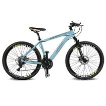 Bicicleta Kyklos Aro 26 Kivnon 8.5 Freio a Disco 21V Azul/Laranja -