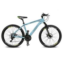Bicicleta Kyklos Aro 26 Kivnon 8.5 Freio a Disco 21V Azul/Verde -