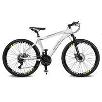 Bicicleta Kyklos Aro 26 Kivnon 8.5 Freio a Disco A-36 21V Branco/Laranja -