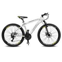 Bicicleta Kyklos Aro 26 Kivnon 8.5 Freio a Disco A-36 21V Branco/Verde -