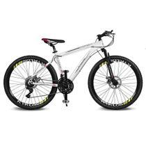 Bicicleta Kyklos Aro 26 Kivnon 8.5 Freio a Disco A-36 21V Branco/Vermelho -