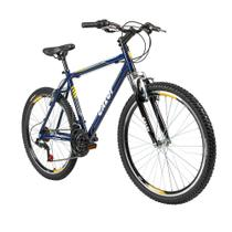 Bicicleta Lazer Caloi Commander Aro 26 Azul    + Capacete -
