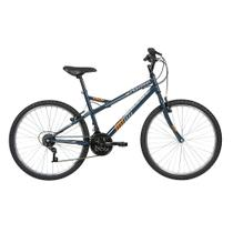 Bicicleta Lazer Caloi Montana Aro 26 - Quadro Aço - 21 Velocidades - Chumbo -