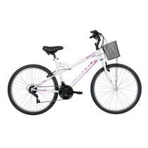 Bicicleta Lazer Caloi Ventura Aro 26 - Quadro Aço Branco -