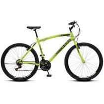 Bicicleta Masculina Adulto Aro 26 Colli CB 500 Aros aero freio vbreak 21 marchas - Amarelo Neon -