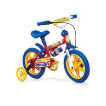 Bicicleta Masculina Infantil Aro 12 Fire man Azul Nathor - Gambo