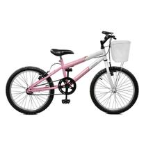 Bicicleta Master Bike Aro 20 Serena Freio V-Brake Rosa/Branco -
