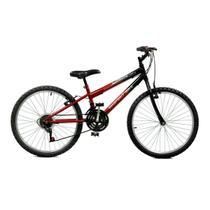 6d399b5d4 Bicicleta Master Bike Aro 24 Ciclone Plus 21 Marchas V-Brake Vermelho Preto