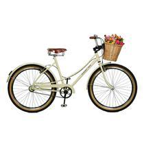 Bicicleta Master Bike Aro 26 Bella Retrô Freio V-Brake Bege -