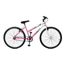 Bicicleta Master Bike Aro 26 Feline Freio V-Brake Rosa/Branco -