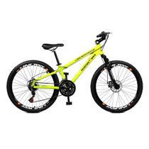 Bicicleta Master Bike Aro 26 Free Rider Freio à Disco A-36 21 V  Amarelo Neon -