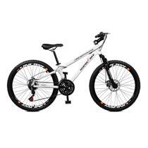 Bicicleta Master Bike Aro 26 Free Rider Freio à Disco A-36 21 V Branco -