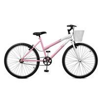 Bicicleta Master Bike Aro 26 Serena Freio V-Brake Rosa/Branco -