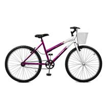 Bicicleta Master Bike Aro 26 Serena Freio V-Brake Violeta/Branco -