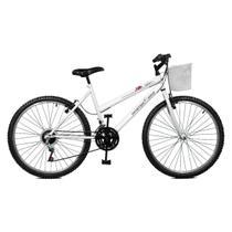 Bicicleta Master Bike Aro 26 Serena Plus 21 Marchas V-Brake Branco -